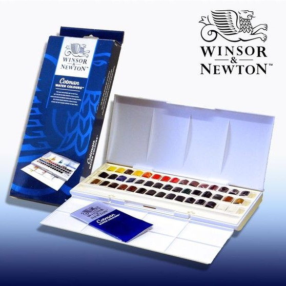 [Dụng Cụ Vẽ Tâm Tâm]- Winsor Newton water color, Cotman water color -45 half pans - 3000855 , 838139225 , 322_838139225 , 1750000 , Dung-Cu-Ve-Tam-Tam-Winsor-Newton-water-color-Cotman-water-color-45-half-pans-322_838139225 , shopee.vn , [Dụng Cụ Vẽ Tâm Tâm]- Winsor Newton water color, Cotman water color -45 half pans