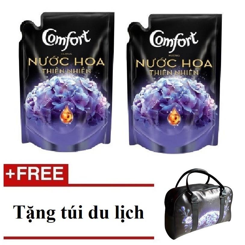 [QUÀ] Bộ 2 túi nước xả Comfort nước hoa thiên nhiên Bella 1,6L +(MSP 67068562 x2)+ Tặng 1 túi du lị
