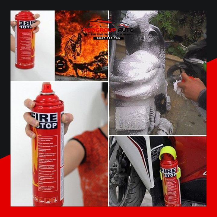 Bình chữa cháy mini 500ml để xe hơi poogroup