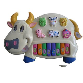 [HÀNG THẬT] Đồ chơi đàn piano hình chú bò sữa cho bé xanh