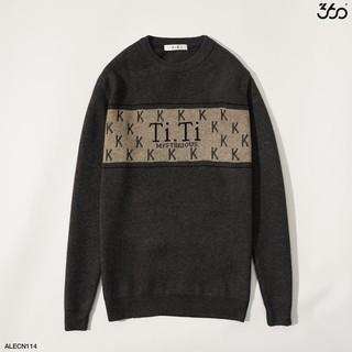 Áo len nam 360 Boutique họa tiết chữ trẻ trung, thời trang – ALECN114