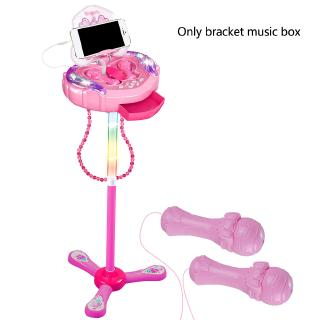 Colorful Lights Double Microphone Kids Wired Early Education Electronic Adjustable Stand Karaoke Toy