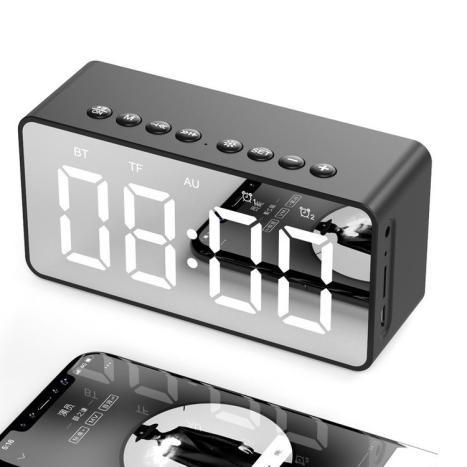 Loa bluetooth kiêm đồng hồ led báo thức 2 in 1 BT506 Rẻ-Đẹp-Chất Lượng thương hiệu AEC -DC3593