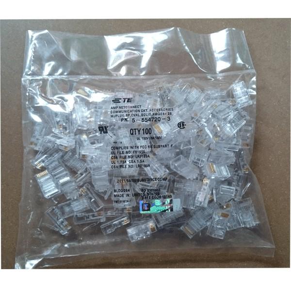 Hạt mạng RJ45 nhựa – Túi 100 hạt Giá chỉ 28.000₫