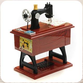 Hộp nhạc mô hình máy may cổ điển big size, quà tặng tinh tế & sang trọng