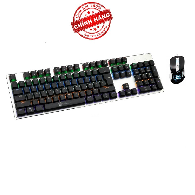 Bộ bàn phím cơ và chuột LED chơi Game R8 G100 - 1621 (Đen) - 2551706 , 412339014 , 322_412339014 , 893000 , Bo-ban-phim-co-va-chuot-LED-choi-Game-R8-G100-1621-Den-322_412339014 , shopee.vn , Bộ bàn phím cơ và chuột LED chơi Game R8 G100 - 1621 (Đen)