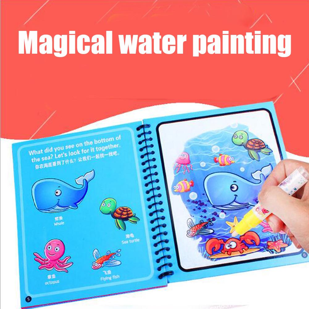 Magic Drawing Non-toxic Doodle Educational Toys Water Kids Repeated Use Coloring Book With Pen