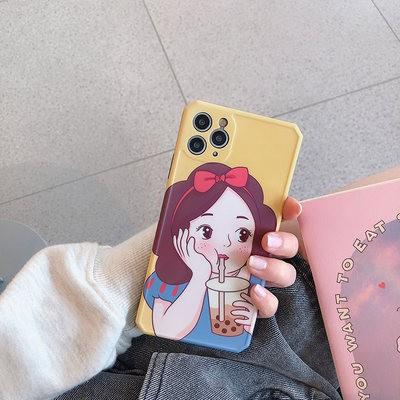 Ytin công chúa trà sữa áp dụng cho vỏ điện thoại di động 11Pro/Max Apple X/XS/XR iPhone7p Silicone 8plus nữ...