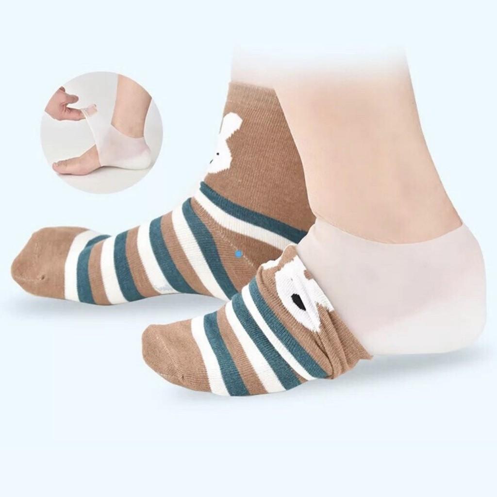 [VIDEO Thật]  02 Miếng Lót Giày Tăng Chiều Cao Loại có đệm khí   Vớ silicon đệm gót chân tăng chiều cao 3cm