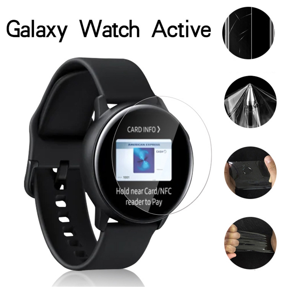 CHINK 5 Pcs Screen Protector for Samsung Galaxy Watch Active Flexible Film Soft HD TPU Clear Anti-Scratch Screen Protector Film