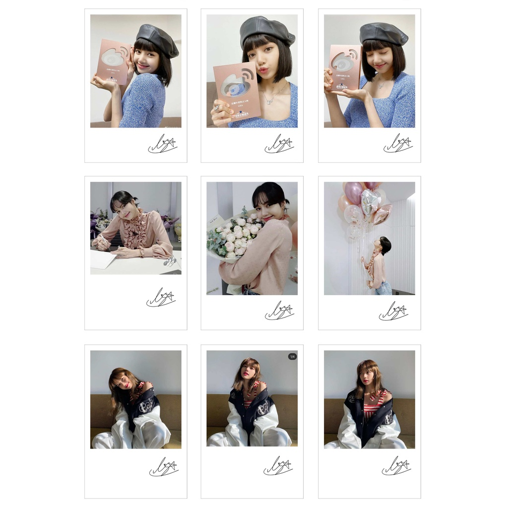 [Ép Lụa] Lomo Card 36 Ảnh BLACKPINK - LISA INSTAGRAM (có chữ ký)
