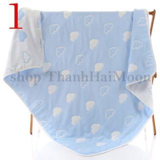 Khăn tắm cho bé 6 lớp chất vải xô cotton thấm hút tốt mềm mại