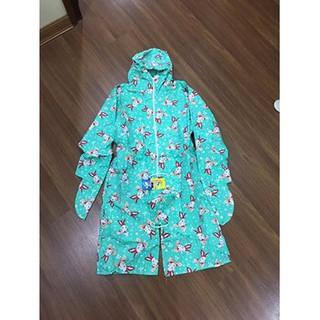 áo váy chống nắng cho bé gái toàn thân 2 lớp vải thô kèm khẩu trang