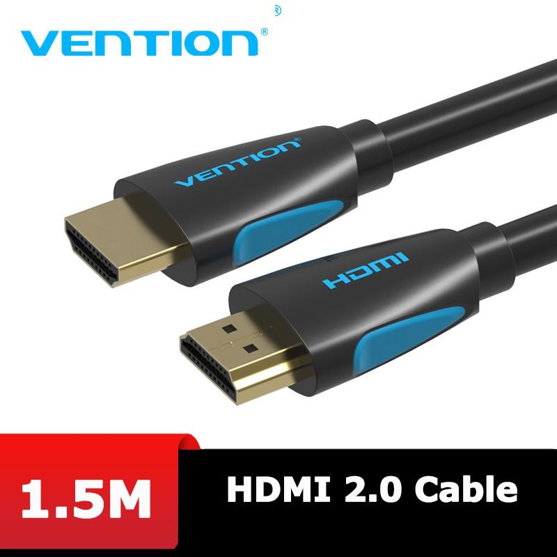 Cáp HDMI 2.0 hỗ trợ 4K 60Hz, dài 1.5m đến 10m Dây tròn- Vention VAA-M02 - BEN