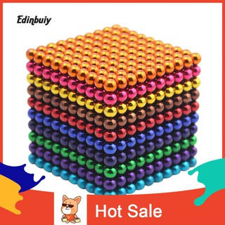 ☺Ready 1000Pcs 5mm Magic Blocks Puzzle Magnetic Balls Cube Children Early Education Toy
