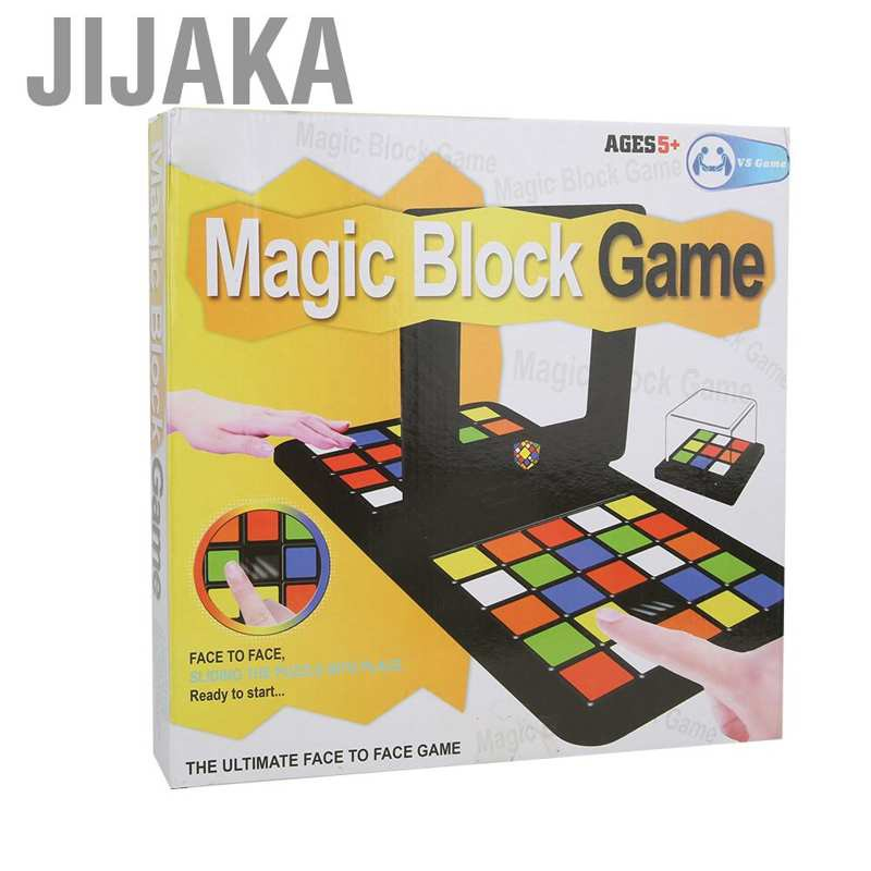 Jijaka Educational Cube Double Player Reactive Children Toy Magic Block Game Best Gift