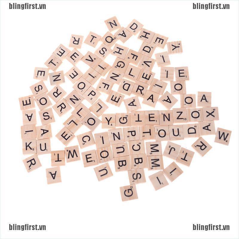 Bộ 100 miếng gỗ học chữ cái alphabet cho trẻ em