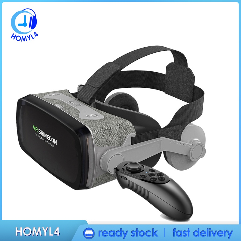 [CAMILA] Universal 3D Glasses VR Headset for iPhone Android Phone w/ Eye Protection