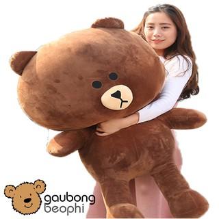 Gấu brown khổ vải 1m2