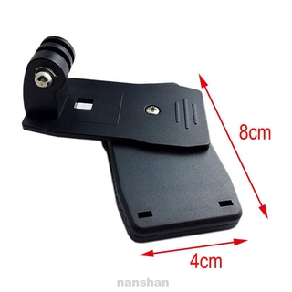 For GoPro ABS Plastic Black Mounting Rotating Hat Quick Release 360 Degree Camera Clip