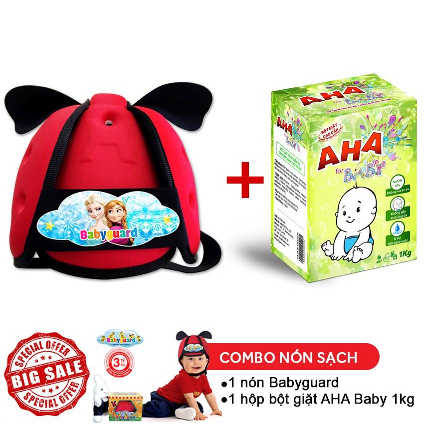 Combo 1 nón Babyguard (Elsa) + 1 hộp bột giặt cao cấp AHA baby 1kg - 2559750 , 410286072 , 322_410286072 , 199000 , Combo-1-non-Babyguard-Elsa-1-hop-bot-giat-cao-cap-AHA-baby-1kg-322_410286072 , shopee.vn , Combo 1 nón Babyguard (Elsa) + 1 hộp bột giặt cao cấp AHA baby 1kg