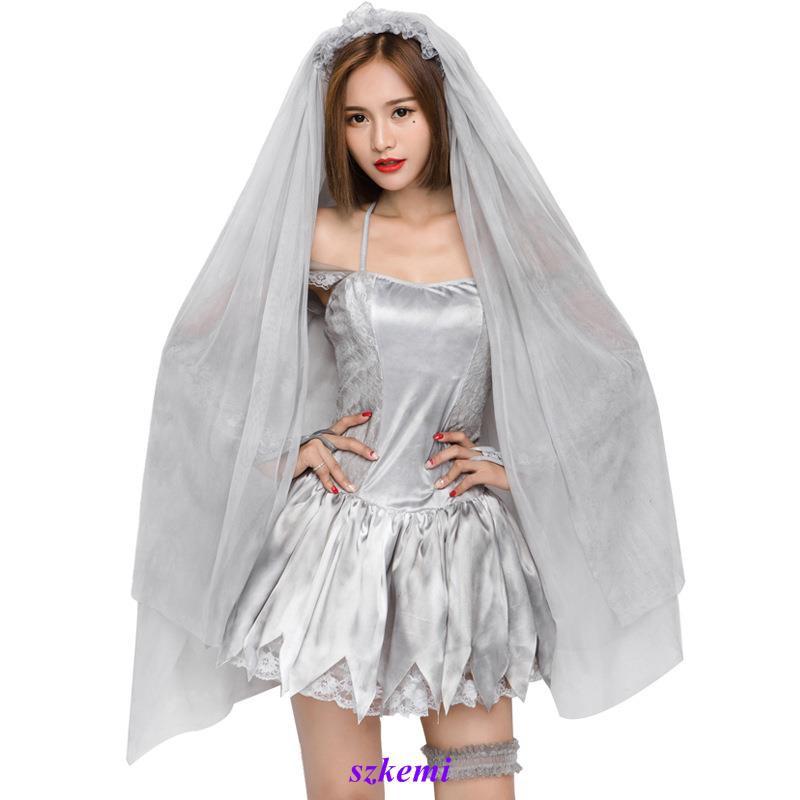 trang phục hoá trang cô dâu ma cà rồng
