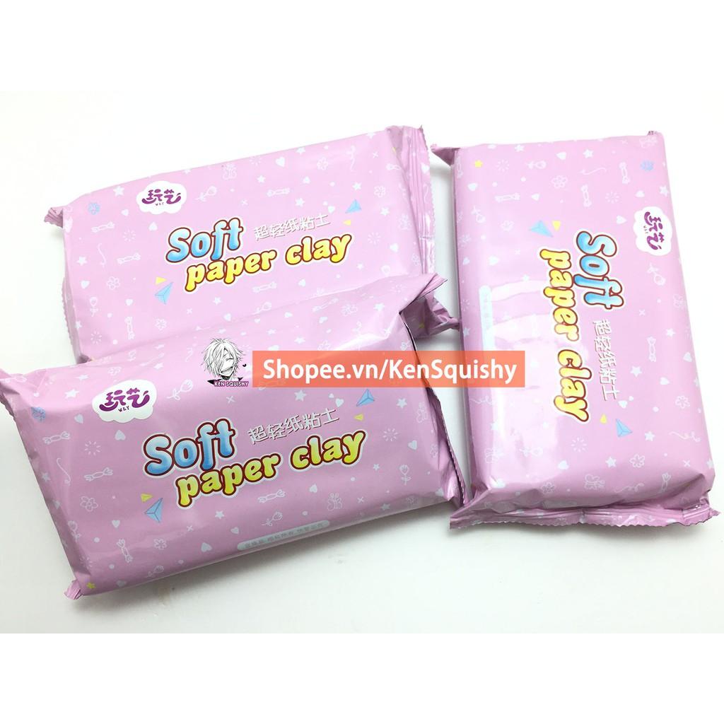 Đất Sét Giấy Soft Paper Clay Cực Tơi Nguyên Liệu Làm Slime