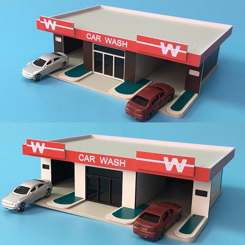 1/150 1/144N Scale Car Wash Building for N gauge Model Train