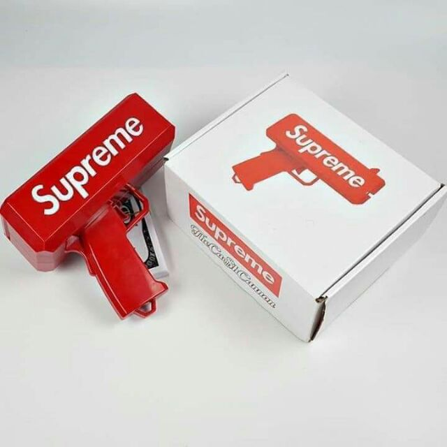 Súng bắn tiền Supreme Gun Money Full Box [ Có hình ảnh thật ]
