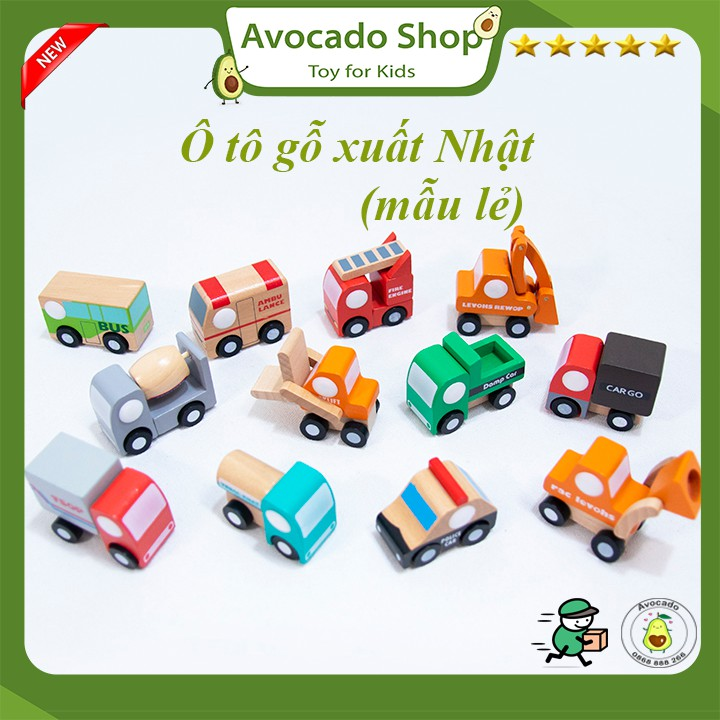 Ô tô gỗ xuất Nhật hàng cao cấp đủ 12 loại (mẫu lẻ )