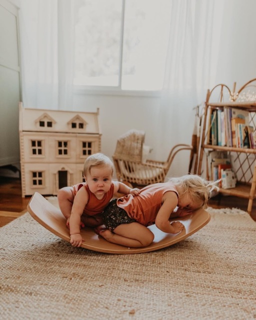 [Mã TOYJAN hoàn 20K xu đơn 50K] Ván thăng bằng, ván bập bênh Montessori, Steiner, Reggio joy board, Gỗ sồi...