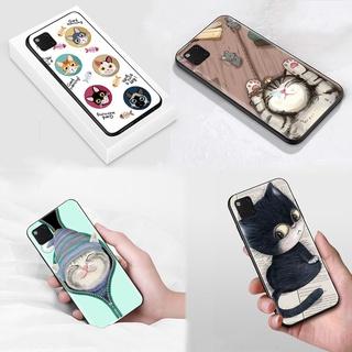 S-38 Cute Cat Soft Silicone Case Casing for Realme C15 C12 C11 C3 C2 Narzo 20 3 3i Pro