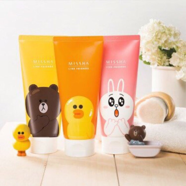 Sữa rửa mặt MISSHA FLOWER BOUQUET IRIS CLEANSING FOAM (Line Friends EDITION)