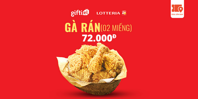 E-Voucher Lotteria Mobile Fried Chicken pro (2pcs)