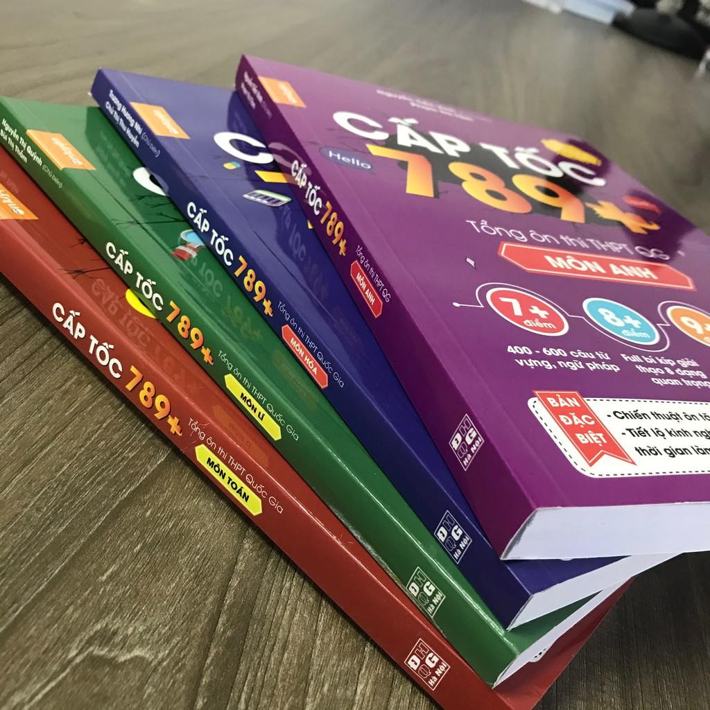 Sách - Combo 2 cuốn Cấp tốc 789+ Tổng ôn thi THPT Quốc Gia (Toán + Anh)