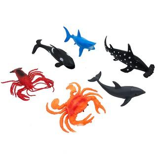 Bộ 6 con sinh vật biển: tôm, cua, cá voi Seabed World 2004B