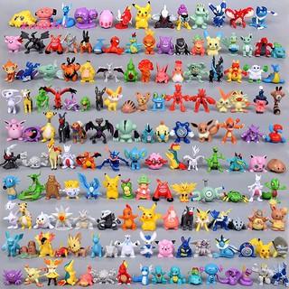 XA_144Pcs Pokemon Pocket Monster Elfin Mini Action Figure Toys Kids Birthday Dolls