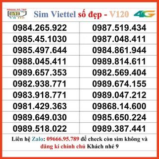 Sim Viettel V120 đầu 09 số đẹp giá rẻ 9 [HOT]