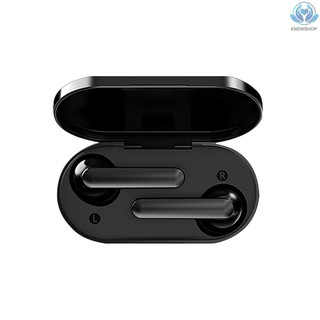 【enew】QCY T3 HiFi BT 5.0 Wireless Earphone Half In-ear Headphone Outdoor Headset Black Noise Reduction With 500mAh Charging Case Black