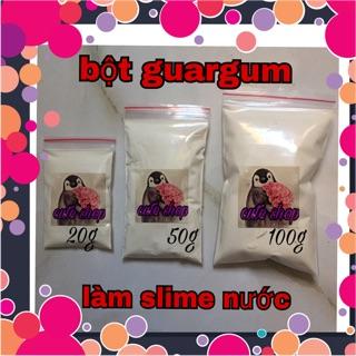bột guargum làm slime nước