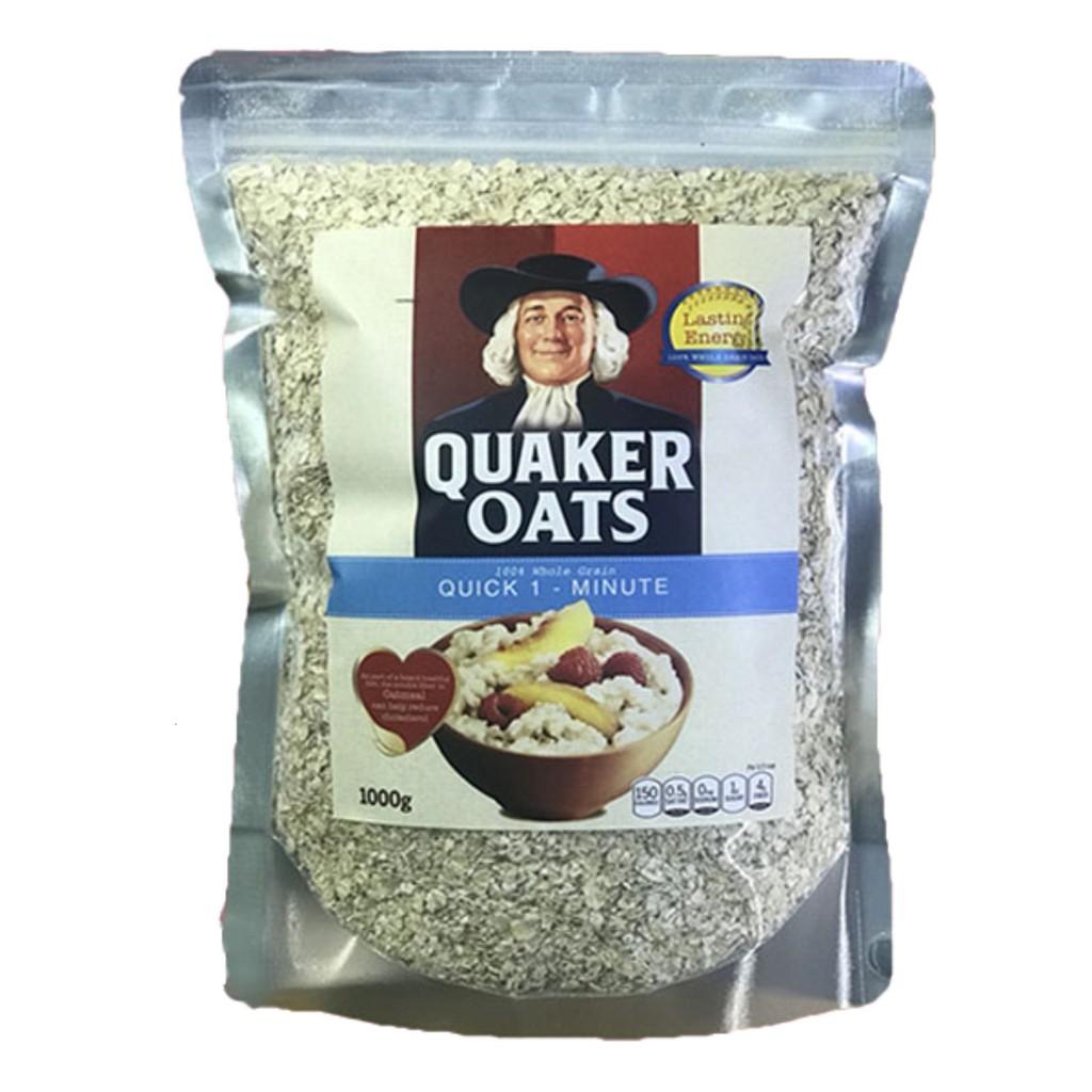 Combo 1 gói hạt chia tím úc 250g 1 gói yến mạch quaker oats túi 1kg