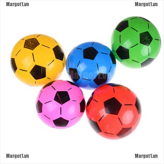 [Margot] 1PC Inflatable PVC Football Soccer Ball Kids Children Beach Pool Sports Ball Toy [VN]