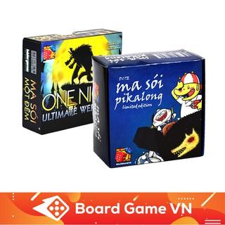 Combo Ma Sói Pikalong và Ma Sói One Night BoardGameVN – Tặng Sticker 12 Nhân Vật Pikalong