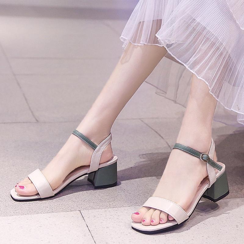 Giày Cao Gót Mũi Vuông Thời Trang Dành Cho Nữ