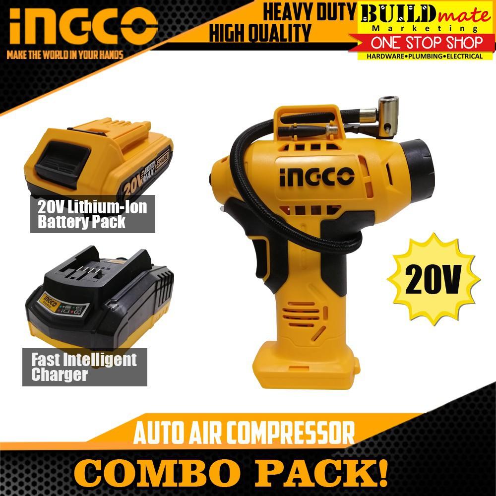 Máy bơm hơi cầm tay tự động dùng pin 20V 🔥 INGCO CACLI2001