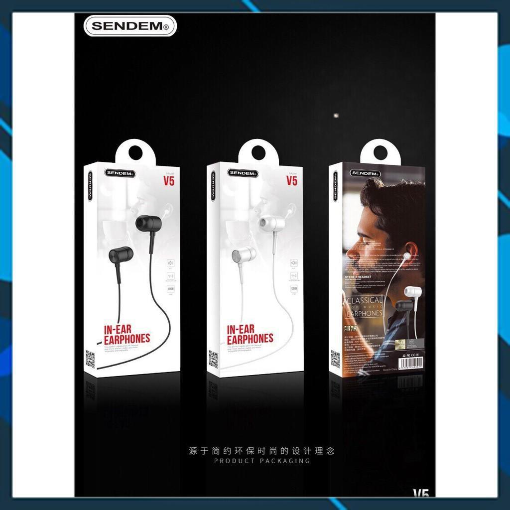 ⚡️Chính Hãng⚡️ Tai Nghe In-Ear Super Bass Sendem V5 -V6-V7  Chính Hãng - Thể Thao - Hàng đóng hộp - Dễ bán -  Nghe Hay