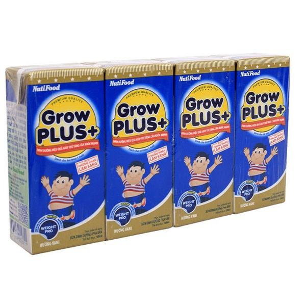 Combo 6 lốc sữa bột pha sẵn NUTI GROW PLUS XANH 180ml - 4 hộp/lốc