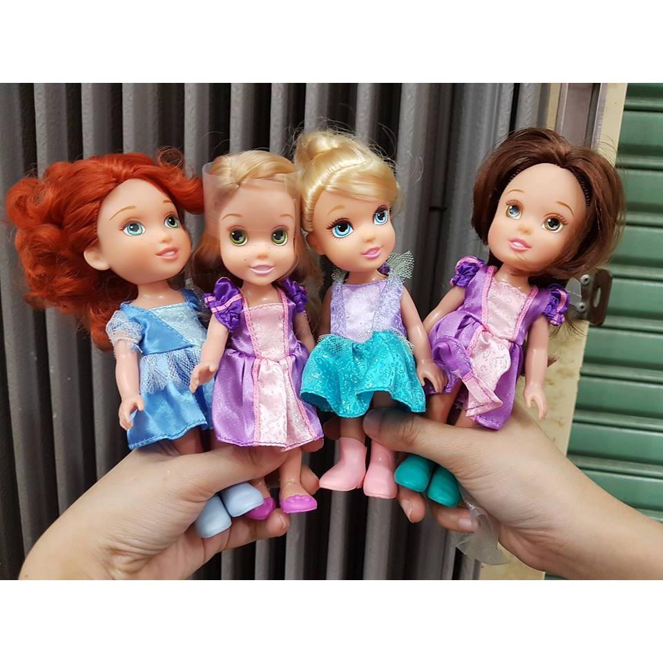 Combo 2 Búp Bê Công Chúa Disney Mini Princess 15cm