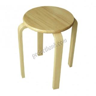 Ghế tròn chân dẹp gỗ Đức Thành 31061