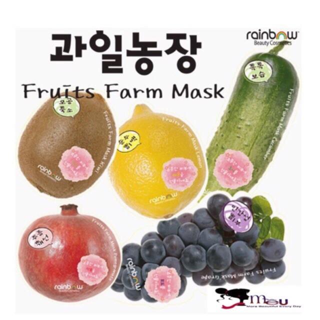 Mặt nạ hoa quả RAINBOW fruits farm mask pack Hàn Quốc - siêu cute